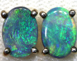 5.8 CTS BLACK OPAL SILVER EARRINGS OF-2080-opalsforever