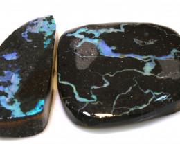 145cts black boulder opal rub parcel ado-8094