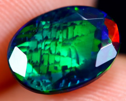 1.62cts Natural Ethiopian Faceted Smoked Welo Opal / BF6400