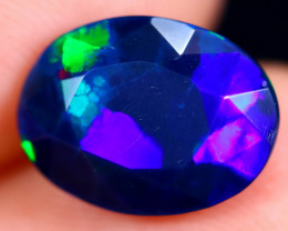 2.26cts Natural Ethiopian Faceted Smoked Welo Opal / BF6394