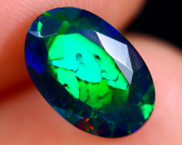 1.96cts Natural Ethiopian Faceted Smoked Welo Opal / BF6395