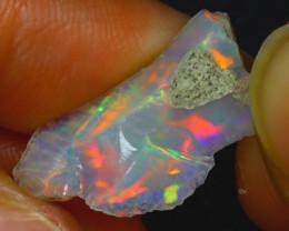 4.98Ct Multi Color Play Ethiopian Welo Opal Rough H0113/R2