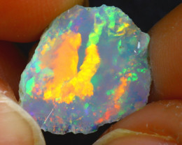 5.55Ct Multi Color Play Ethiopian Welo Opal Rough JF0217/R2
