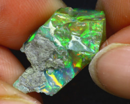 9.12Ct Multi Color Play Ethiopian Welo Opal Rough JF0223/R2