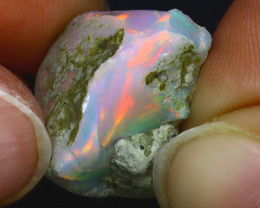 10.73Ct Multi Color Play Ethiopian Welo Opal Rough JF0228/R2