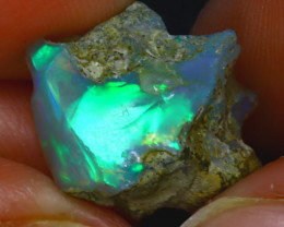 10.85Ct Multi Color Play Ethiopian Welo Opal Rough JF0230/R2
