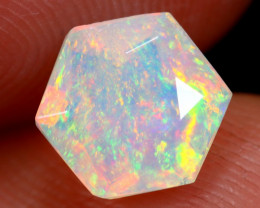 1.07cts Natural Ethiopian Hexagon Faceted Welo Opal /BF6446