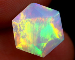 2.70cts Natural Ethiopian Hexagon Faceted Welo Opal /BF6447