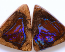 26.30cts Yowah Opal Polished Pair AOH-244