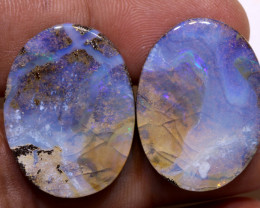 Boulder Opal Polished Pair AOH-247 - australianopalhunter