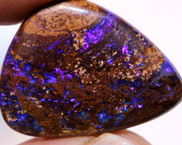25cts Boulder Opal wood fossil Polished Stone AOH-194