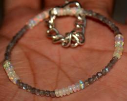 Natural Labradorite and Welo Opal Bracelet 308