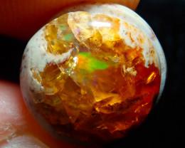 $1 NR Auction 4.76ct Mexican Matrix Cantera Multicoloured Fire Opal