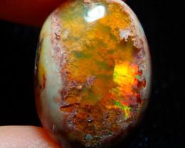 $1 NR Auction 9.1ct Mexican Matrix Cantera Multicoloured Fire Opal