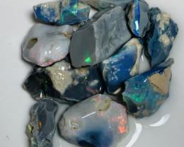 Cutters Black Seams- Multicolour Select Rough Black Seam Opals to Cut#829