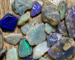 160.90 ct Rough Opal Lot Black Opals Lightning Ridge BORB270221