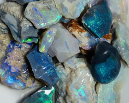 Select Bright Colourful Rough Seam Opals to Cut- 100 CTs#897