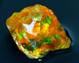 31Ct Flash Fire Gamble Rough Ethiopian Delanta Crystal Opal Rough E2802