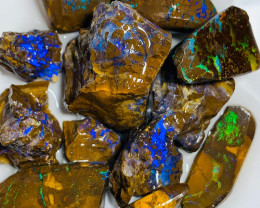 Special Boulder Opal Lot - Mix of Rough & Rub with Great Potential