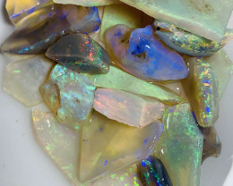Rough to Cut- 45 CTs Bright Crystal Seam Opals For Cutters#848