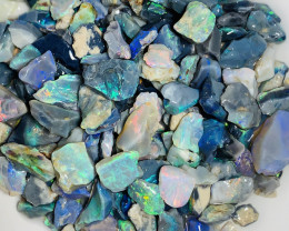 Multicolour Black Opal Chips- 220 CTs of Bright Rough#852