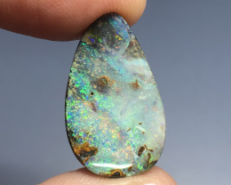 12.6cts lovely pinfire Boulder opal gemstone