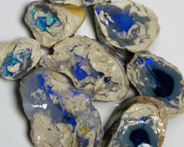 140 CTs Nobby Rough Opals- Set of Splits, Exposed Bars#878
