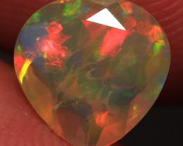 0.76 CT Broadflash Pattern!! Welo Ethiopian Faceted Opal-CF410
