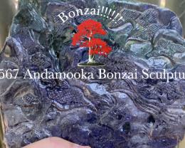 Bonzai!!!! Andamooka Matrix opal Sculpture [32568] 53FROGS