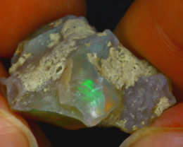 17.67Ct Multi Color Play Ethiopian Welo Opal Rough JF0419/R2