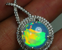 BEAUTIFUL PENDANT OPAL ELEGANT WITH MICRO SETTINGS BRIGHT  COLOR WELO OPAL-