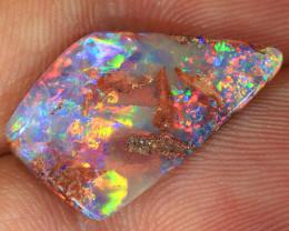 4.85ct 19x12mm Crystal Pipe Wood Fossil Opal  [LOB-3890]