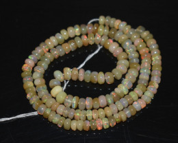 46.80 Ct Natural Ethiopian Welo Opal Beads Play Of Color OB296
