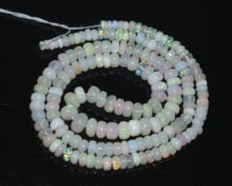 36.70 Ct Natural Ethiopian Welo Opal Beads Play Of Color OB299