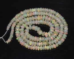 31.85 Ct Natural Ethiopian Welo Opal Beads Play Of Color OB301