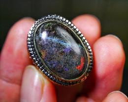 93.10 CT Gorgeous Andamooka Matrix Opal Jewelry Ring
