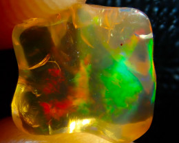 $1 NR Auction 3.78ct Mexican Multicoloured Fire Opal Specimen