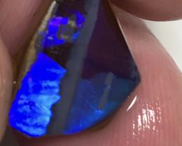 Molten Blue/Rolling Vibrant Blue on Winton Boulder Opal Rub#896