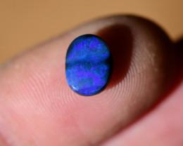 1.4 crt NO Reserve black opal Lighting Ridge oval with blue green fire