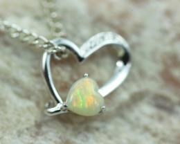 Cute Stylish Lovers Heart Crystal Opal Pendant  CCC 3052