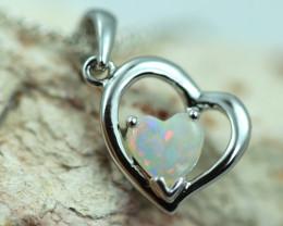 Cute Stylish Lovers Heart Crystal Opal Pendant  CCC 3074