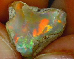 8.06Ct Multi Color Play Ethiopian Welo Opal Rough HF0720/R2