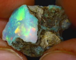 9.38Ct Multi Color Play Ethiopian Welo Opal Rough JF0819/R2
