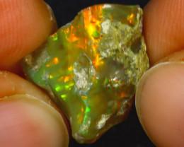 8.97Ct Multi Color Play Ethiopian Welo Opal Rough H0913/R2