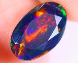 2.01cts Natural Ethiopian Welo Faceted Smoked Opal / NY1991