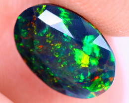 1.21cts Natural Ethiopian Welo Faceted Smoked Opal / NY1992