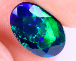 1.41cts Natural Ethiopian Welo Faceted Smoked Opal / NY1995