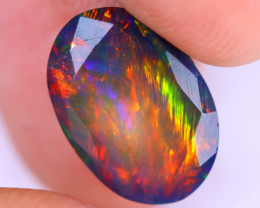2.46cts Natural Ethiopian Welo Faceted Smoked Opal / NY2002