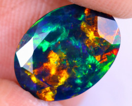 1.83cts Natural Ethiopian Welo Faceted Smoked Opal / NY2057