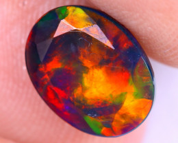 1.36cts Natural Ethiopian Welo Faceted Smoked Opal / NY2058